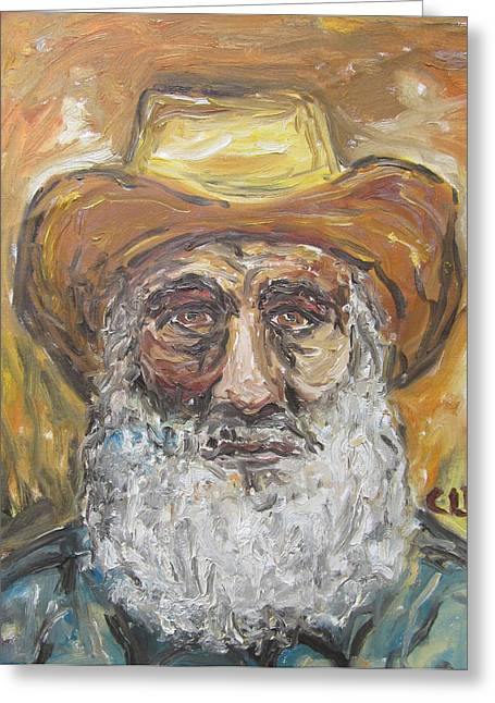 Old Miner From Victor Colorado Greeting Card by Cheryl Pettigrew