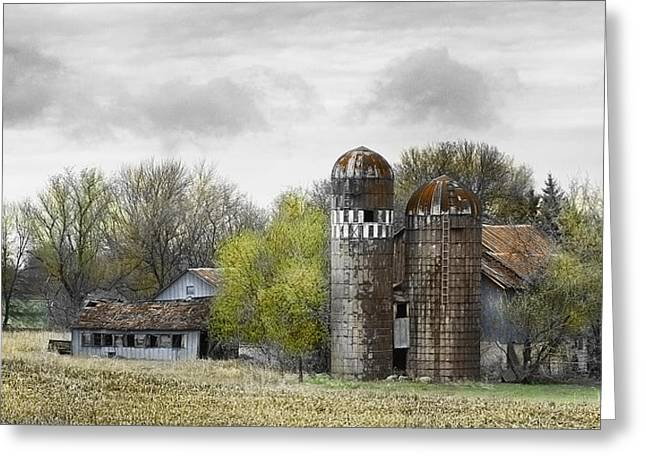 Old Minnesota Farmstead Greeting Card by Don Anderson
