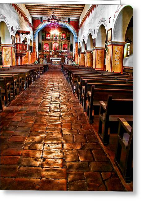 Old Mission Church Greeting Card by Jason Abando