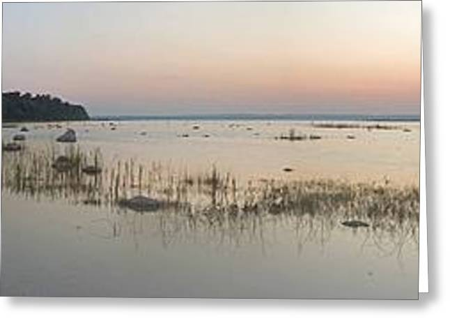 Old Mission Point Lighthouse Panorama Greeting Card by Twenty Two North Photography
