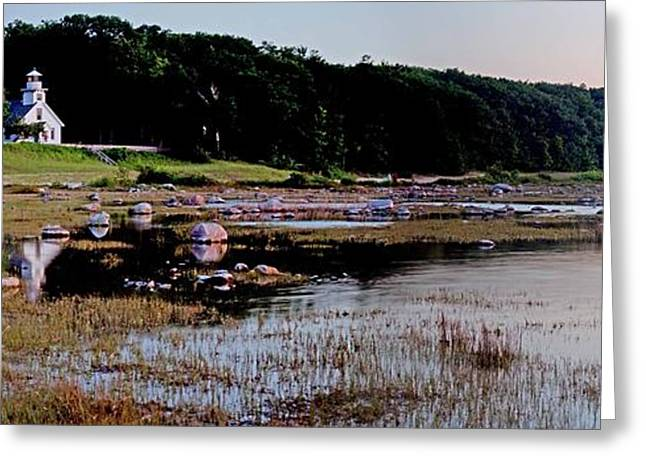 Old Mission Point Panorama Greeting Card
