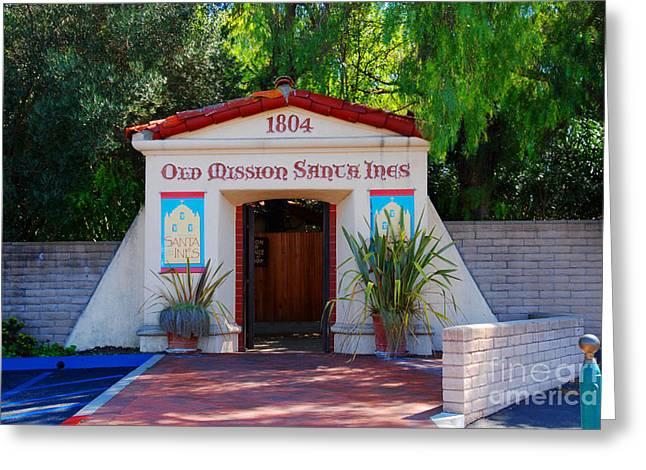 Old Mission Santa Ines Solvang California Greeting Card by Susanne Van Hulst