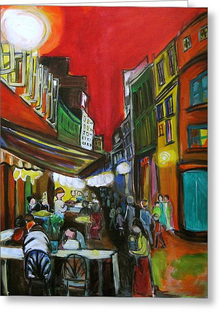 Old Montreal Greeting Card by Nathalie Fabri
