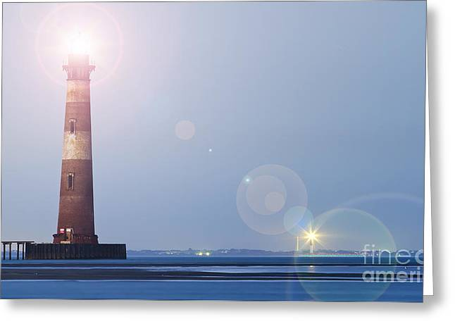 Old Morris Island Lighthouse Charleston Sc Greeting Card by Dustin K Ryan
