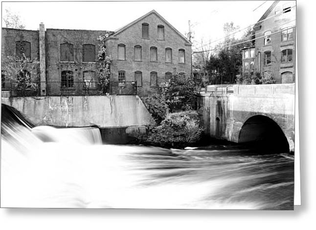 Old New England Mill Greeting Card