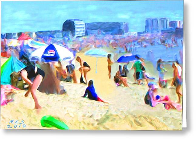 Old Orchard Beach Greeting Card by Richard Stevens