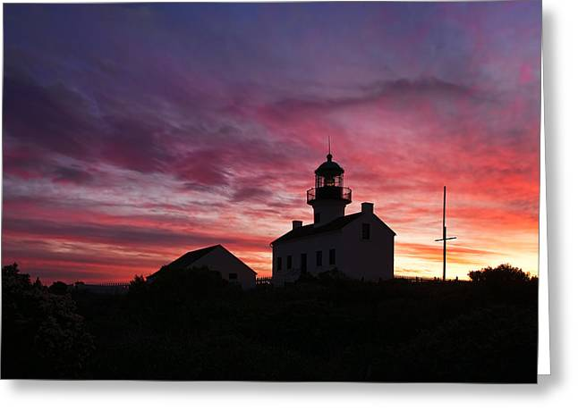 Old Point Loma Lighthouse Sunset Greeting Card