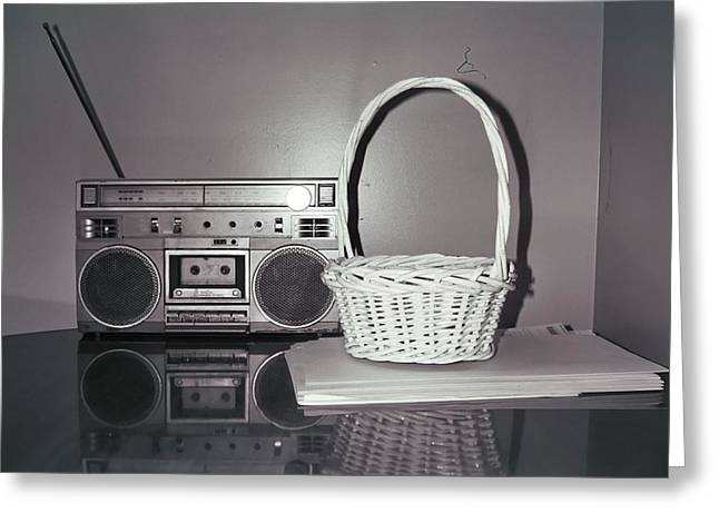 Old Radio And Easter Basket Greeting Card by Floyd Smith