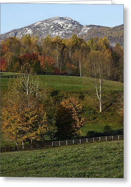 Old Rag Mountain During Fall - Virginia Greeting Card