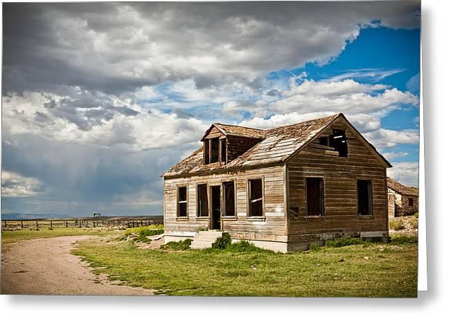 Old Ranch House Greeting Card by Sheri Van Wert