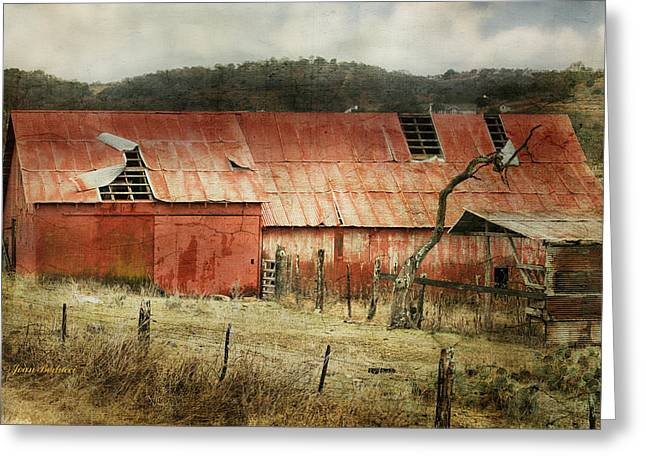 Greeting Card featuring the photograph Old Red Barn by Joan Bertucci