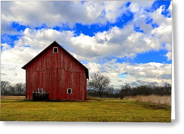 Old Red Barn Greeting Card by Steven Jones
