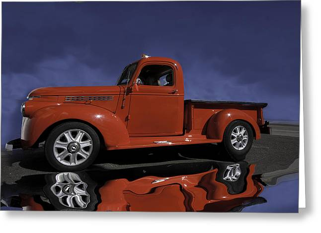Old Red Truck Greeting Card by Judy Deist
