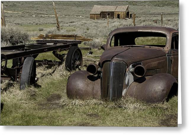 Old Rusted Car Greeting Card by Richard Balison