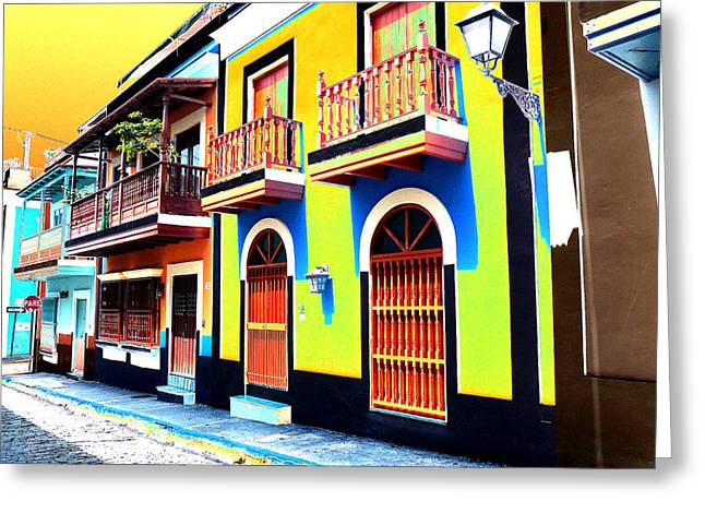 Old San Juan 10 Greeting Card