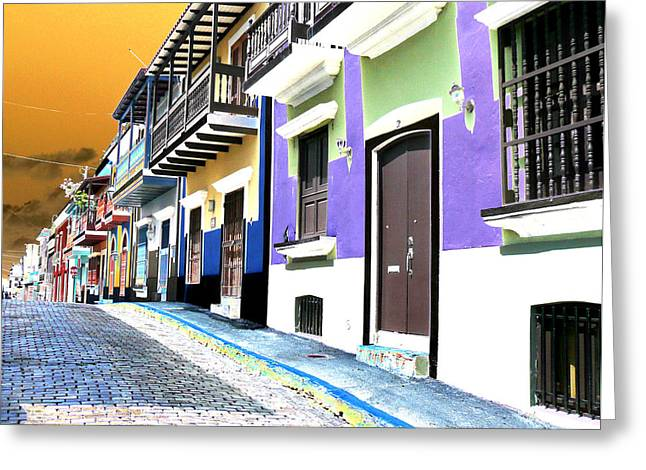 Old San Juan 9 Greeting Card