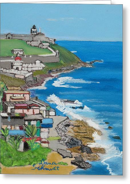 Old San Juan Seacoast In Puerto Rico Greeting Card