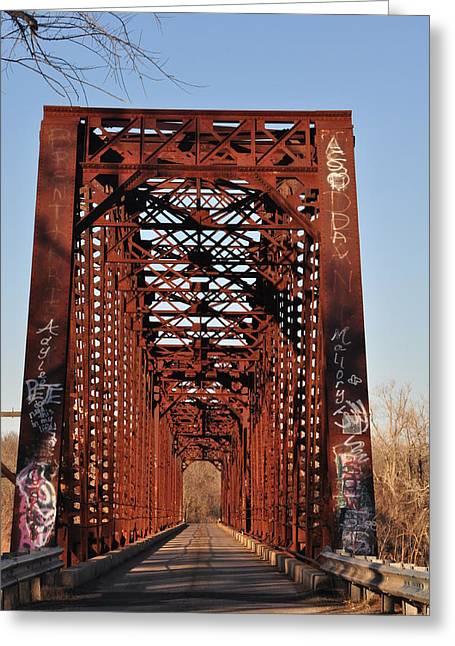 Old Sante Fe Bridge Greeting Card