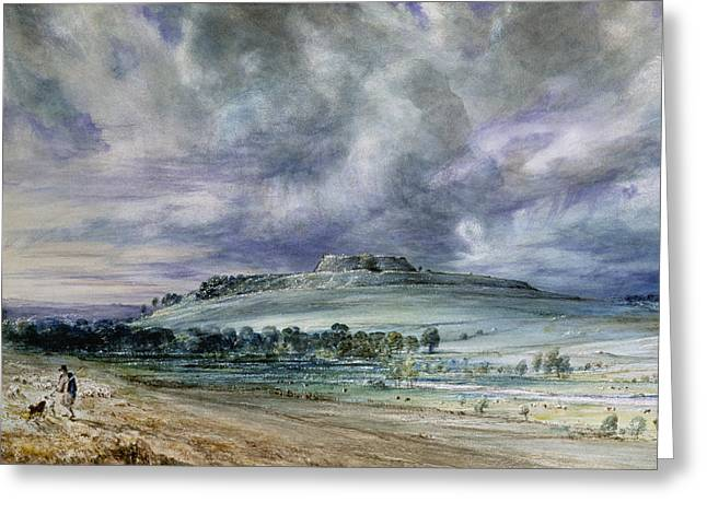 Old Sarum Greeting Card by John Constable