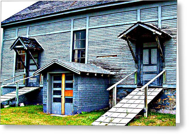Greeting Card featuring the photograph Old School Cheboygan by MJ Olsen