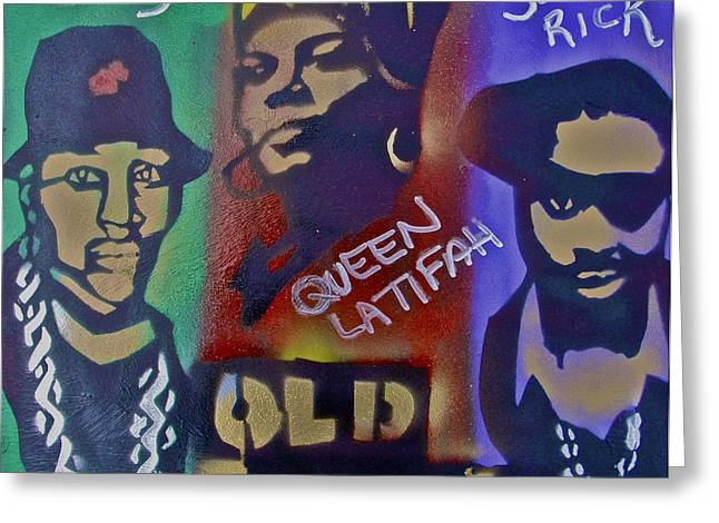Old School Hip Hop Greeting Card by Tony B Conscious