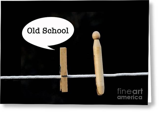 Old School Greeting Card by Nancy Greenland
