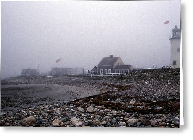 Old Scituate Lighthouse Greeting Card by Skip Willits