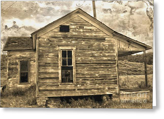 Old Shack Greeting Card by Gregory Dyer