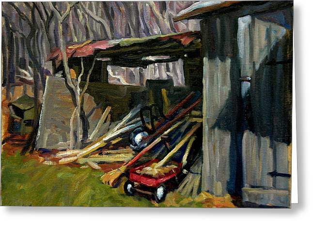 Old Shed Berkshires Greeting Card by Thor Wickstrom