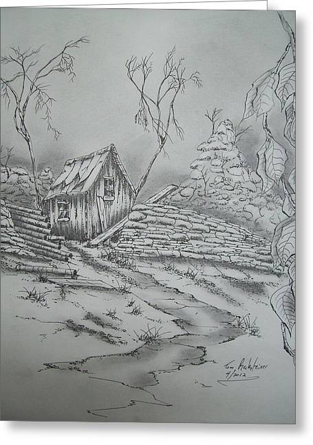 Old Shed Greeting Card by Tom Rechsteiner