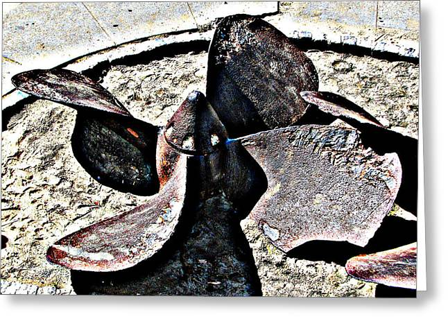 Old Ship Propellor 2 Greeting Card
