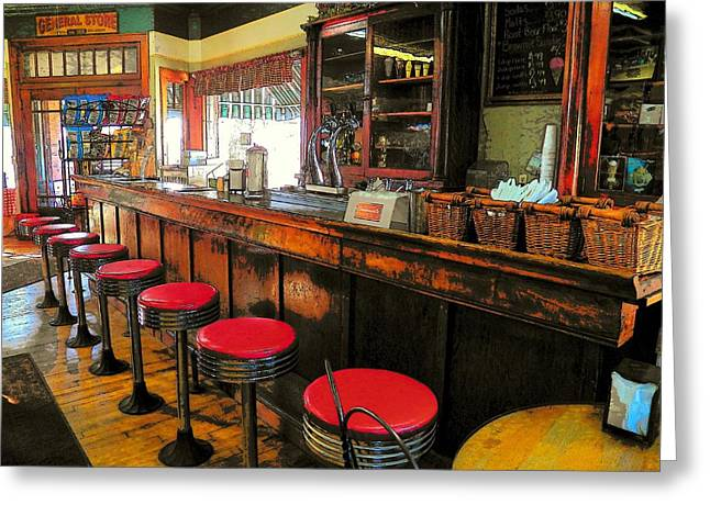 Old Soda Shoppe Greeting Card by Joyce Kimble Smith