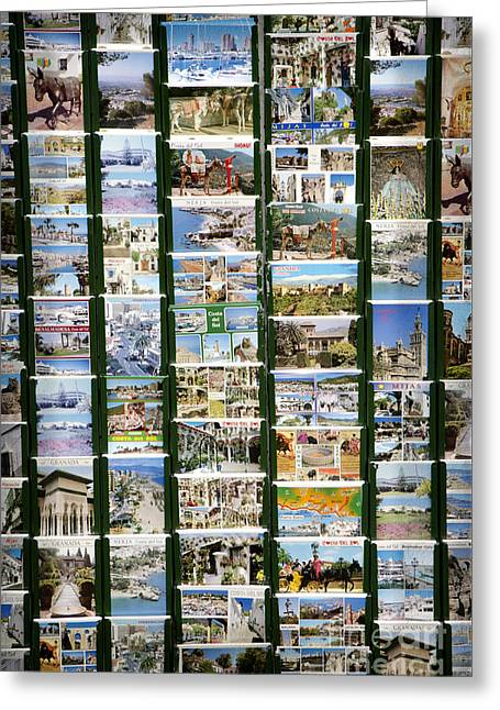 Old Spanish Postcards1 Greeting Card by Perry Van Munster