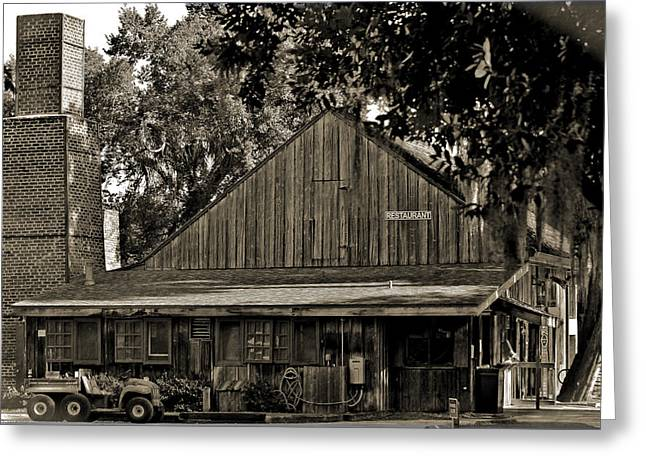 Greeting Card featuring the photograph Old Spanish Sugar Mill Old Photo by DigiArt Diaries by Vicky B Fuller
