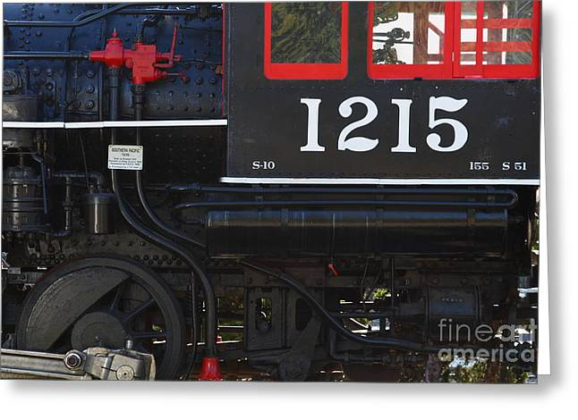 Old Steam Locomotive Engine 1215 . 7d13007 Greeting Card
