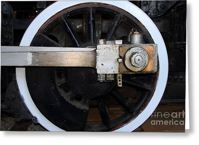 Old Steam Locomotive Engine 5 . The Little Buttercup . Train Wheel . 7d12916 Greeting Card by Wingsdomain Art and Photography
