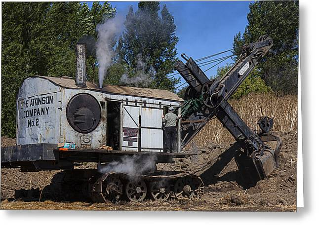 Old Steam Shovel  Greeting Card
