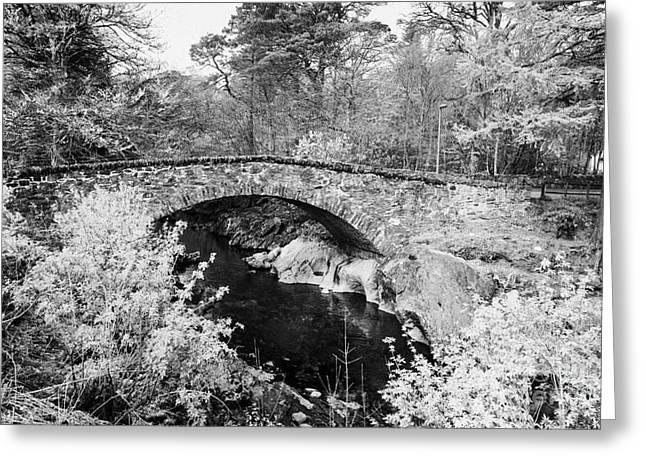 Old Stone Bridge In The Village Of Glencoe Highlands Scotland Uk Greeting Card