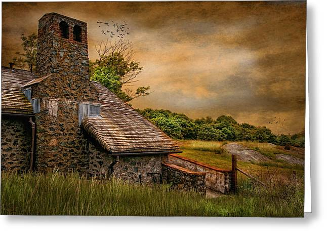 Old Stone Countryside Greeting Card by Robin-Lee Vieira