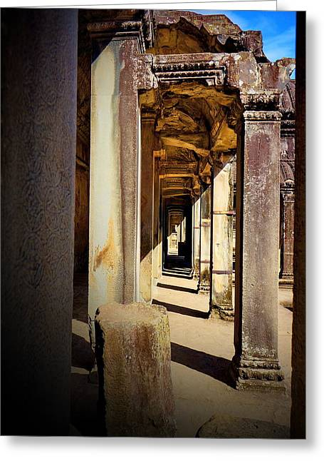 Greeting Card featuring the photograph Old Temple by Arik S Mintorogo