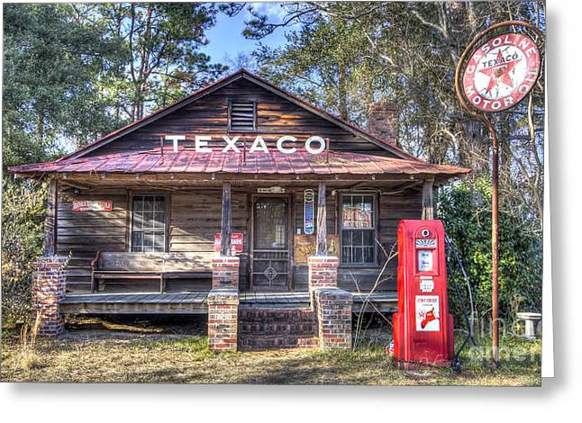 Old Texaco Service Station Greeting Card