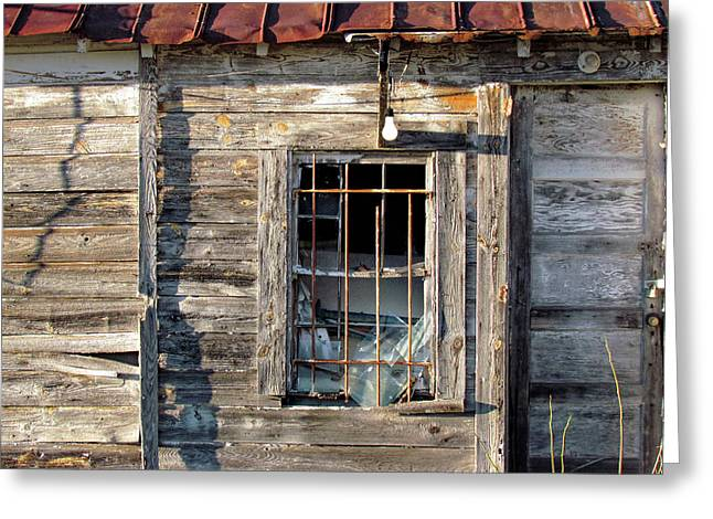 Old Textured Shed Greeting Card