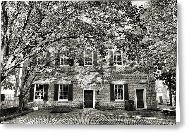 Old Town Backyard Greeting Card by Steven Ainsworth