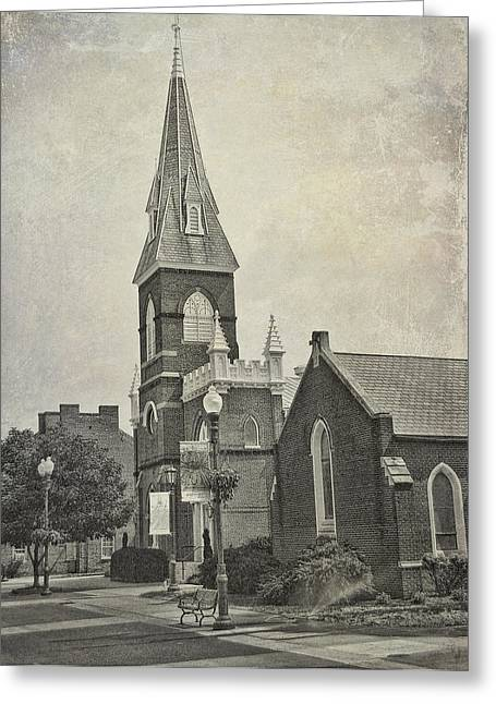 Old Town Church Greeting Card by Kathleen Holley