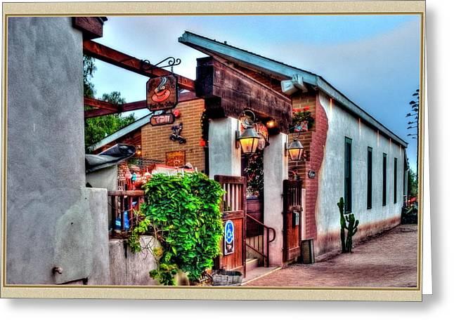 Old Town El Mercado Greeting Card by Frank Garciarubio