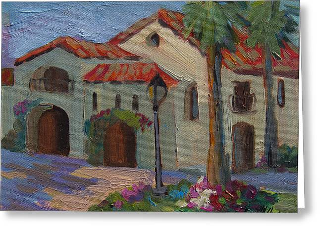 Old Paintings Greeting Cards - Old Town La Quinta Afternoon Greeting Card by Diane McClary