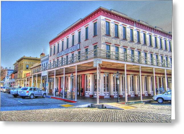 Old Towne Sacramento Greeting Card by Barry Jones
