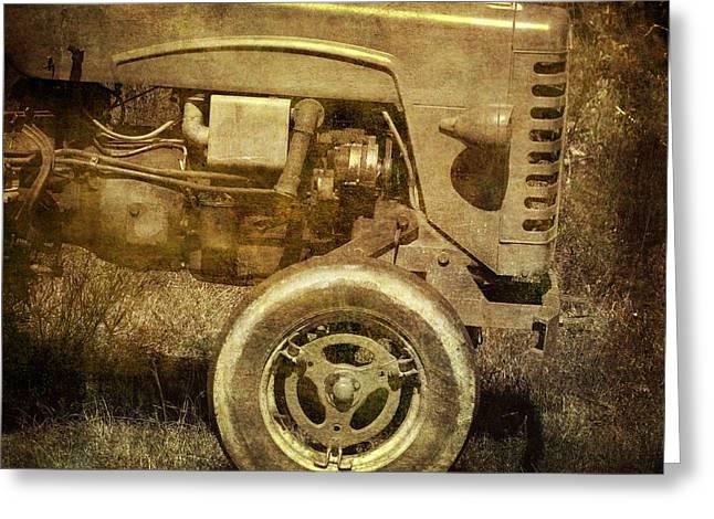 Old Tractor Greeting Card by Bernard Jaubert