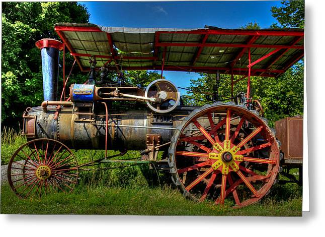 Greeting Card featuring the photograph Old Tractor by Nick Mares