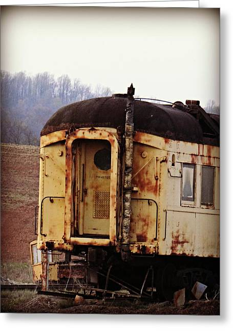 Old Train Car Greeting Card by Brenda Conrad
